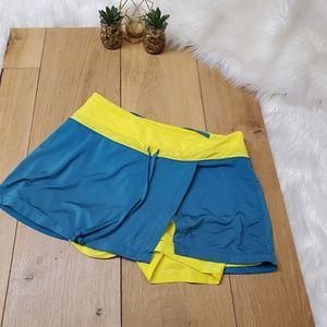 Nike Yellow & Blue Tennis Skort